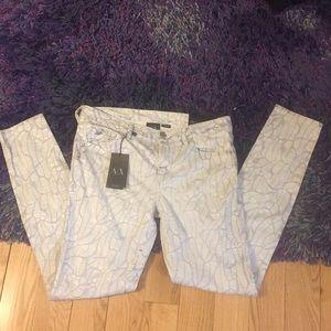 NWT Armani Exchange super skinny jeans, sz 6